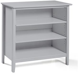 Bolton Furniture Simplicity Under Window Bookcase, Dove Gray