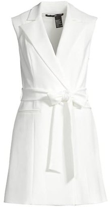 Jay Godfrey Kitty Tie Sleeveless Blazer Dress