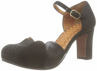 Chie Mihara Women's Icaro Ankle Strap Heels Black (Galaxy Negro Ante Negro Anis Negro Negro) 2 UK