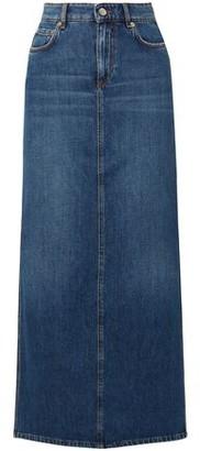Ganni Denim Maxi Skirt