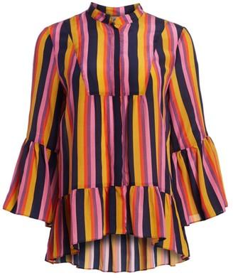 Figue Livia Striped Silk Blouse