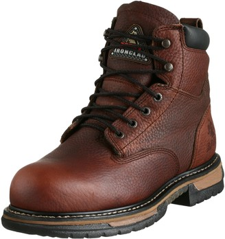 "Rocky Men's 6"" Iron Clad Steel Toe Waterproof Work Boot"
