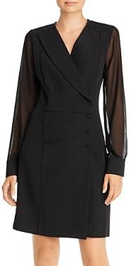 Nanette Lepore Nanette nanette Sheer Sleeve Blazer Dress