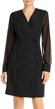 Nanette Lepore nanette Sheer Sleeve Blazer Dress