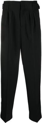 MAISON KITSUNÉ High-Waisted Straight Leg Trousers