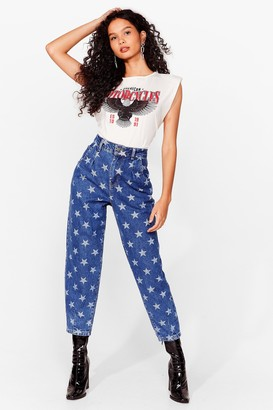 Nasty Gal Womens Baby You're a Star Tapered Jeans - Dark Blue