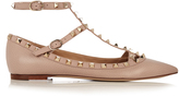 Valentino Rockstud T-bar leather flats