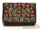 Mary Frances Crimson Star Embroidered Clutch