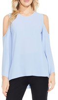 Vince Camuto Petite Women's Bell Sleeve Cold Shoulder Blouse