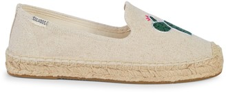Soludos Embroidery Canvas Espadrille Smoking Slippers