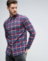 Jack Wills Salcombe Herringbone Check Shirt in Regular Fit