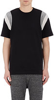 Barneys New York Men's Short-Sleeve Sweatshirt-BLACK
