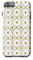 Designs Direct Moroccan Tile Tough Case for iPhone 6 Plus in Gold/White