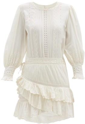 LoveShackFancy Lorelei Ruffled Cotton-gauze Mini Dress - White