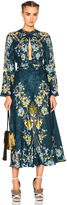Roberto Cavalli Printed Long Sleeve Dress