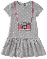 Kate Spade Girls' Polka-Dotted Trompe L'Oeil Camera Dress - Little Kid