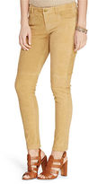 Ralph Lauren Whipstitched Suede Skinny Pant