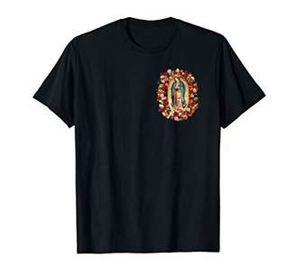 Our Lady of Guadalupe Mexico Virgin Mary Tilma on Back T-Shirt