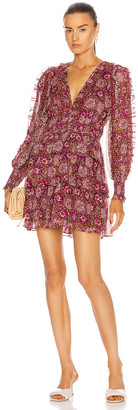 Ulla Johnson Brisa Dress in Claret Patchwork | FWRD