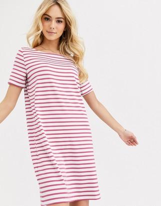 Pieces Ingrid stripe t-shirt dress