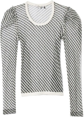 BEIGE Transparent Coolness Shirt in Black Stripes TS