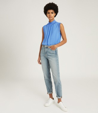 Reiss GILDA SLEEVELESS ROLLNECK TOP Blue
