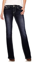 LOVE NATION Love Indigo Embellished-Pocket Jeans - Petite