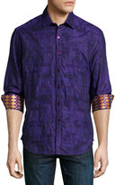 Robert Graham Limited Edition Eminence Printed Sport Shirt, Purple