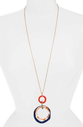Lele Sadoughi Twig Banded Pendant Necklace