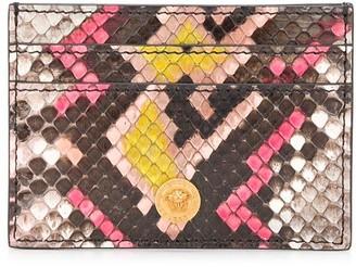 Versace Crocodile Embossed Card-Holder