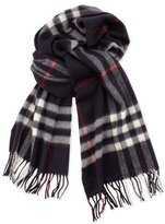 Burberry Men's Cashmere Giant Icon Scarf, Navy