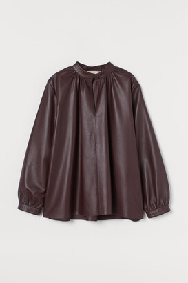 H&M Leather blouse