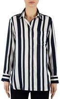 Gerard Darel Striped Silk Shirt