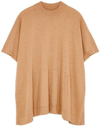 Johnstons of Elgin Carlita camel cashmere poncho