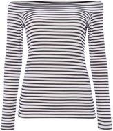 Pied A Terre Stripe Jersey Bardot Top