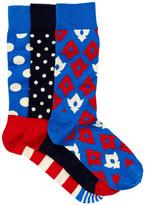 Happy Socks Assorted Print Sock Set - Pack of 3