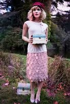 Shabby Apple Curiouser and Curiouser Skirt Pink