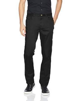 Calvin Klein Men's Stretch Sateen Casual Pants Starry Night Black 34x32