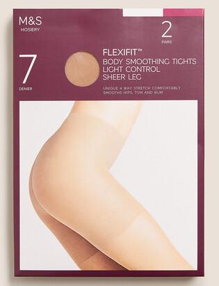 Marks and Spencer 2 Pack 7 Denier Light Control Sheer Tights