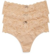 Cosabella Plus Size Women's 'Lovelie' Lace Trim Thong
