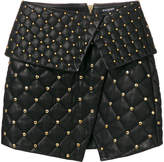 Balmain quilted asymmetric skirt