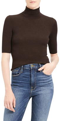 Theory Leenda R Regal Ribbed Elbow Sleeve Wool Blend Sweater