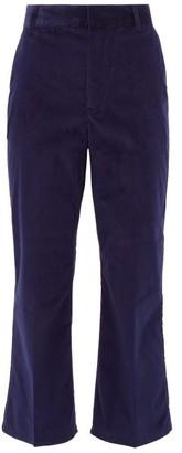 Altuzarra Adler Stretch-cotton Corduroy Kick-flare Trousers - Blue