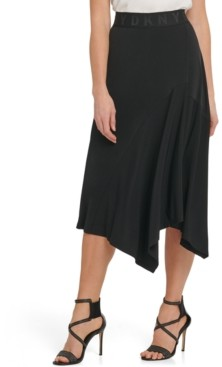 DKNY Asymmetric Pull-On Skirt