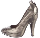 Burberry Metallic Perforated Pumps