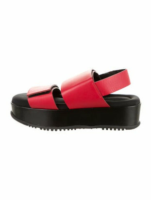 Marni Leather Slingback Sandals w/ Tags Red