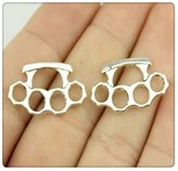 Nobrand No brand 5pcs 2414mm antique silver tone Knuckles charms