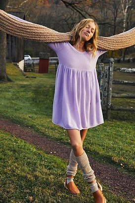 Free People The Luxe Sweater Babydoll Dress