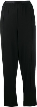 McQ Swallow High-Waist Fitted Trousers