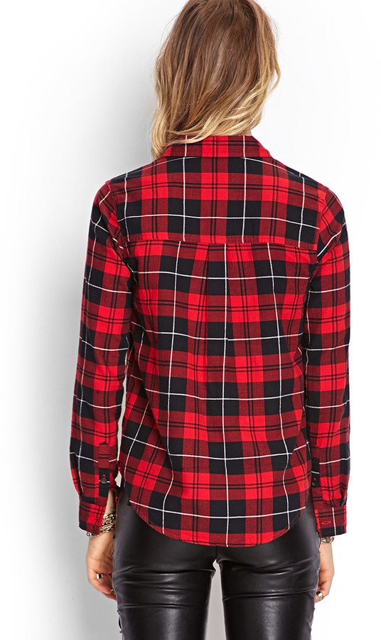 Forever 21 Classic Plaid Pocket Shirt
